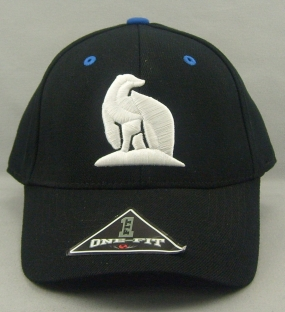 UAF Nanooks Black One Fit Hat