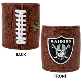Oakland Raiders 2pc Football Can Holder Set