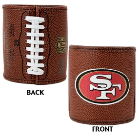 San Francisco 49ers 2pc Football Can Holder Set
