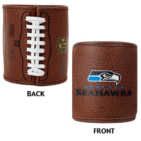 Seattle Seahawks 2pc Football Can Holder Set