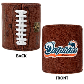 Miami Dolphins 2pc Football Can Holder Set