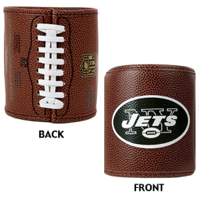 New York Jets 2pc Football Can Holder Set