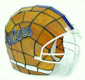 Florida Gators Glass Helmet Lamp