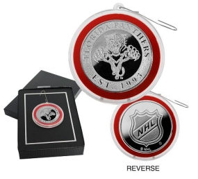 Florida Panthers Silver Coin Ornament
