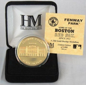 Fenway Park 24KT Gold Commemorative Coin