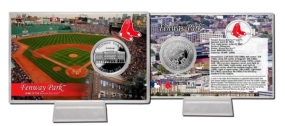 Fenway Park Silver Plate Coin Card
