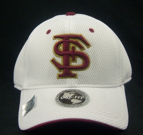 Florida State Seminoles White Elite One Fit Hat