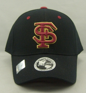 Florida State Seminoles Black One Fit Hat