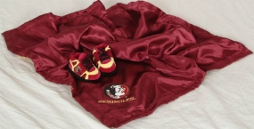 Florida State Seminoles Baby Blanket and Slippers