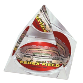 Washington Redskins Crystal Pyramid
