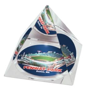 Boston Red Sox Crystal Pyramid