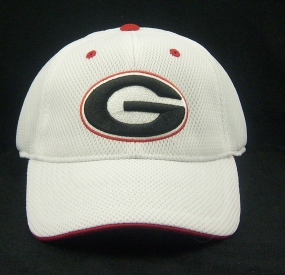 Georgia Bulldogs White Elite One Fit Hat