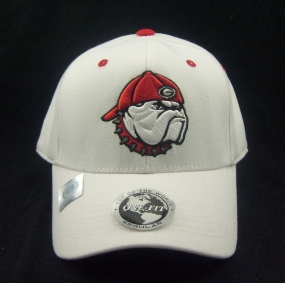 Georgia Bulldogs White One Fit Hat