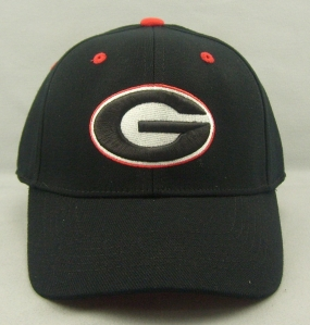Georgia Bulldogs Black One Fit Hat