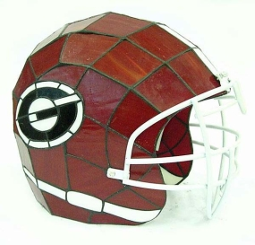 Georgia Bulldogs Glass Helmet Lamp