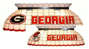 Georgia Bulldogs Pool Table Light