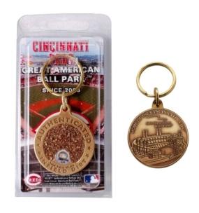 Great American Ball Park Bronze Infield Dirt Keychain