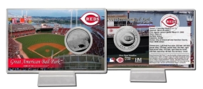 Great American Ball Park Silver Plate Coin Card