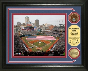 Progressive Field MLB Authenticated Infield Dirt Coin Photo Mint