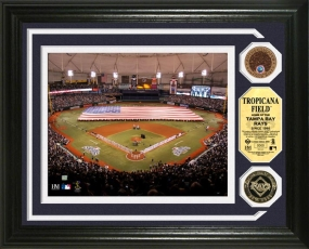 Tropicana Field 24KT Gold & Infield Dirt Coin Photo Mint