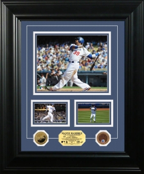Manny Ramirez 24KT Gold Coin Marquee Photo Mint
