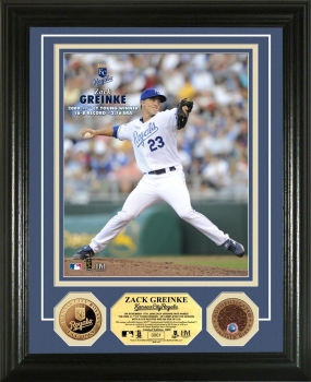 Zack Greinke 2009 AL Cy Young Winner 24KT Gold Coin Photo Mint