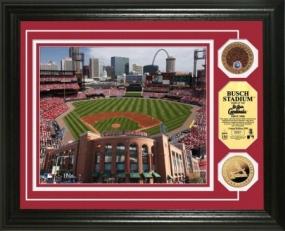 Busch Stadium 24KT Gold & Infield Dirt Coin Photo Mint