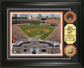 Oriole Park @ Camden Yards 24KT Gold & Infiled Dirt Coin Photo Mint