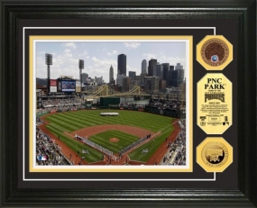 PNC Park 24KT Gold & Infield Dirt Coin Photo Mint