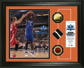 Kevin Garnett 2010 All Star game GU Net,Ball & 24KT Gold Coin Photo Mint