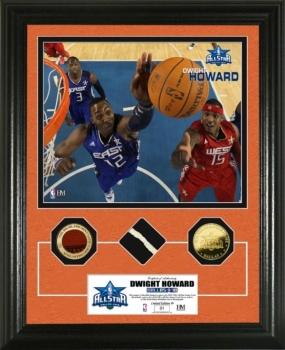 Dwight Howard  2010 All Star game GU Net,Ball & 24KT Gold Coin Photo Mint
