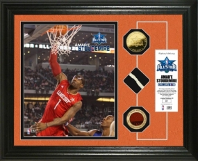 Amare Stoudemire  2010 All Star game GU Net,Ball & 24KT Gold Coin Photo Mint