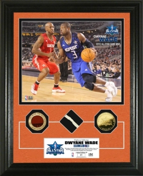 Dwyane Wade  2010 All Star game GU Net,Ball & 24KT Gold Coin Photo Mint