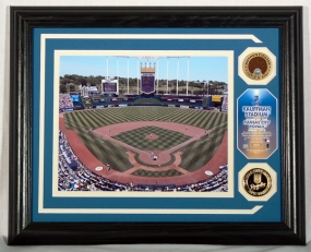 KANSAS CITY ROYALS KAUFFMAN STADIUM PHOTOMINT WITH INFIELD DIRT