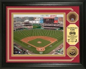 Nationals Park Inaugural Game Infield Dirt and Gold Coin Photo Mint