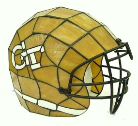 Georgia Tech Yellow Jackets Glass Helmet Lamp