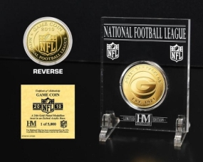 Green Bay Packers 24KT Gold Game Coin