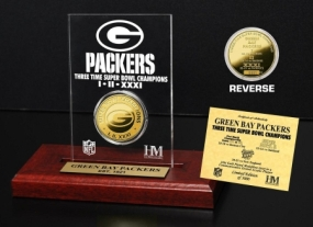 Green Bay Packers 3x SB Champs Etched Acrylic