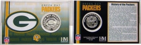 Green Bay Packers Team History Coin Card