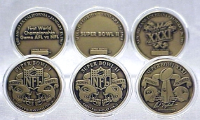 Green Bay Packers Bronze Super Bowl Collection