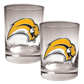 Buffalo Sabres 2pc Rocks Glass Set