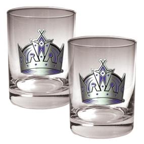 Los Angeles Kings 2pc Rocks Glass Set