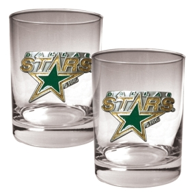 Dallas Stars 2pc Rocks Glass Set