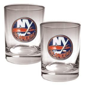 New York Islanders 2pc Rocks Glass Set