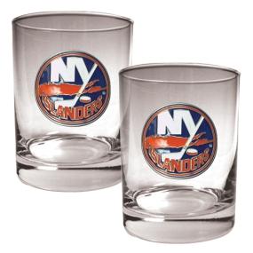 New York Islanders 2pc Rocks Glass Set
