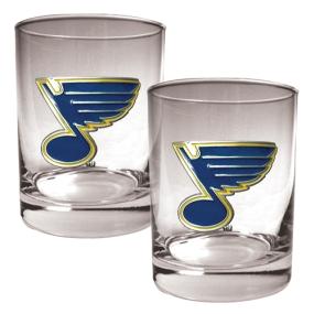 St. Louis Blues 2pc Rocks Glass Set