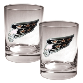 Washington Capitals 2pc Rocks Glass Set