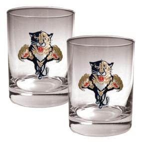 Florida Panthers 2pc Rocks Glass Set