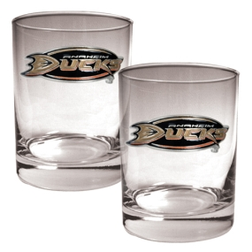 Anaheim Ducks 2pc Rocks Glass Set