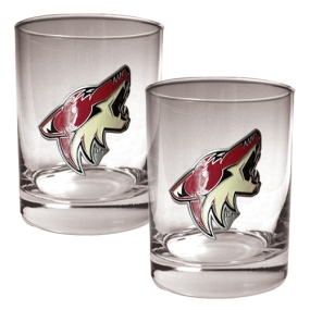 Phoenix Coyotes 2pc Rocks Glass Set